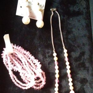 Pink Bead Jewelry Bundle